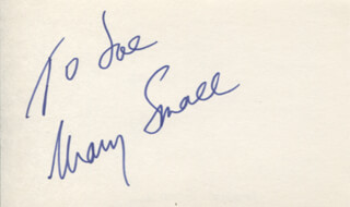 MARY SMALL - INSCRIBED SIGNATURE