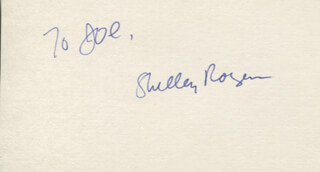 SHELLEY ROGERS - INSCRIBED SIGNATURE