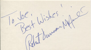ROBERT DUNCAN MCNEILL - AUTOGRAPH NOTE SIGNED