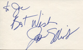JANE ELLIOTT - AUTOGRAPH NOTE SIGNED