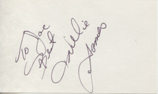 Autographs: WILLIE AAMES - AUTOGRAPH NOTE SIGNED