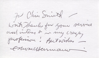 EDWARD HERRMANN - AUTOGRAPH NOTE SIGNED