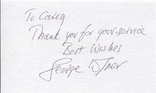 GEORGE WYNER - AUTOGRAPH NOTE SIGNED
