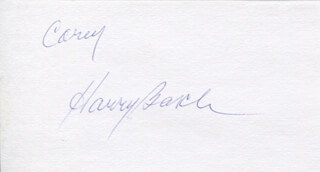 HARRY BASCH - INSCRIBED SIGNATURE