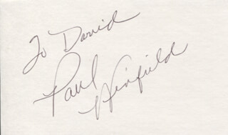 PAUL WINFIELD - INSCRIBED SIGNATURE