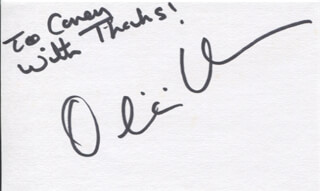 OLIVIA HUSSEY - AUTOGRAPH NOTE SIGNED