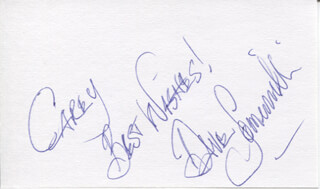THE DIAMONDS (DAVE SOMERVILLE) - AUTOGRAPH NOTE SIGNED