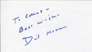 DICKIE MOORE - AUTOGRAPH NOTE SIGNED