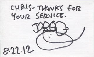 JARED D. LEE - AUTOGRAPH NOTE ON ORIGINAL ART SIGNED 08/22/2012