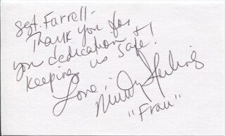 MINDY STERLING - AUTOGRAPH NOTE SIGNED