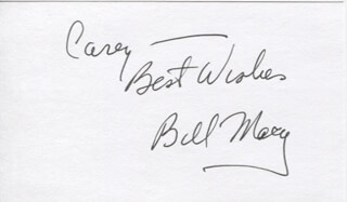 BILL MACY - AUTOGRAPH NOTE SIGNED