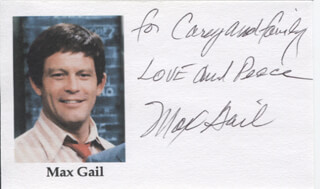 MAX GAIL - INSCRIBED PRINTED PHOTOGRAPH SIGNED IN INK