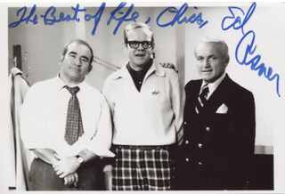 Autographs: ED ASNER - INSCRIBED PHOTOGRAPH SIGNED