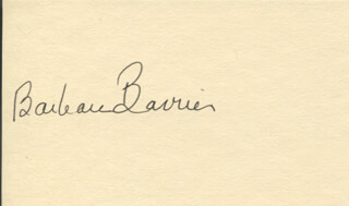 BARBARA BARRIE - AUTOGRAPH