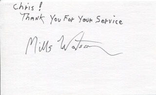 MILLS WATSON - AUTOGRAPH NOTE SIGNED