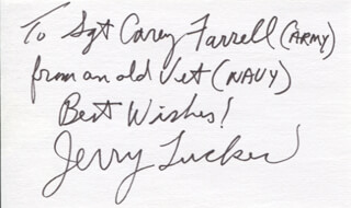 JERRY TUCKER - AUTOGRAPH NOTE SIGNED