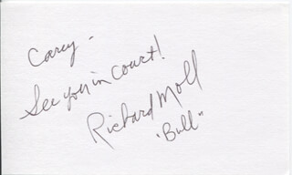 RICHARD MOLL - AUTOGRAPH NOTE SIGNED