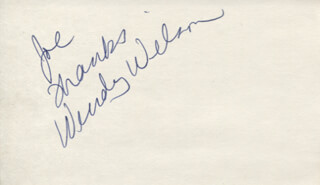 WENDY WILSON - AUTOGRAPH NOTE SIGNED