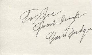 DON BUDGE - AUTOGRAPH NOTE SIGNED