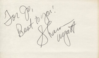 SHARON WYATT - AUTOGRAPH NOTE SIGNED