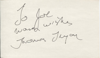 TOM TRYON - AUTOGRAPH NOTE SIGNED