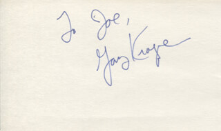 GARY KROEGER - INSCRIBED SIGNATURE