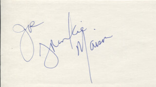 FRANKIE FAISON - INSCRIBED SIGNATURE
