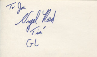 NIGEL REED - INSCRIBED SIGNATURE