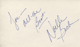 NOELLE BECK - AUTOGRAPH NOTE SIGNED
