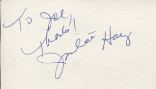 JACKEE HARRY - AUTOGRAPH NOTE SIGNED