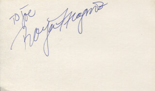 ROYA MEGNOT - INSCRIBED SIGNATURE