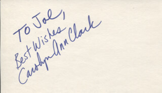 CAROLYN ANN CLARK - AUTOGRAPH NOTE SIGNED