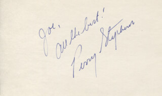 PERRY STEPHENS - AUTOGRAPH NOTE SIGNED