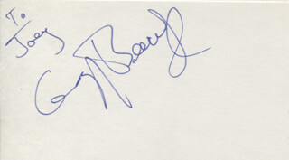 GREG BEECROFT - INSCRIBED SIGNATURE