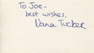 NANA (TUCKER) VISITOR - AUTOGRAPH NOTE SIGNED
