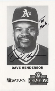 DAVE HENDU HENDERSON - INSCRIBED PRINTED PHOTOGRAPH SIGNED IN INK