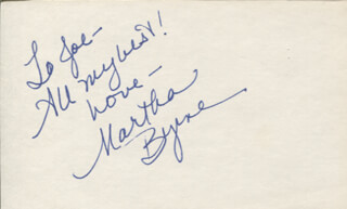 MARTHA BYRNE - AUTOGRAPH NOTE SIGNED