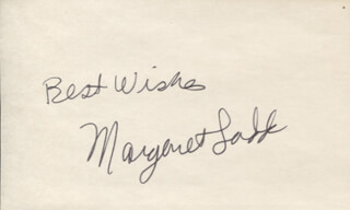 MARGARET LADD - AUTOGRAPH SENTIMENT SIGNED