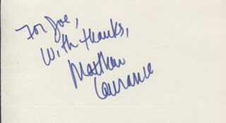 MATTHEW LAURANCE - AUTOGRAPH NOTE SIGNED