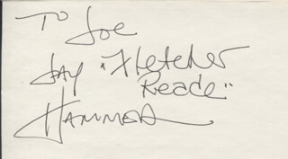 JAY HAMMER - AUTOGRAPH NOTE SIGNED