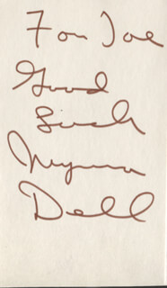 MYRNA DELL - AUTOGRAPH NOTE SIGNED
