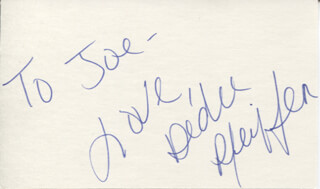 DEDEE PFEIFFER - AUTOGRAPH NOTE SIGNED