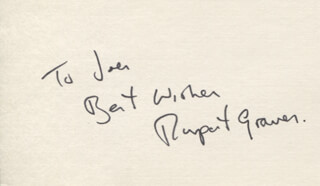 RUPERT GRAVES - AUTOGRAPH NOTE SIGNED