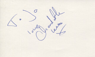 CHARLOTTE LEWIS - AUTOGRAPH NOTE SIGNED