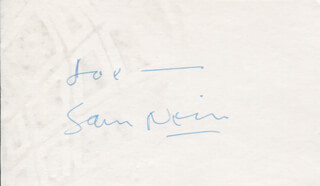 SAM NEILL - INSCRIBED SIGNATURE