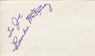 BEVERLEE MCKINSEY - INSCRIBED SIGNATURE