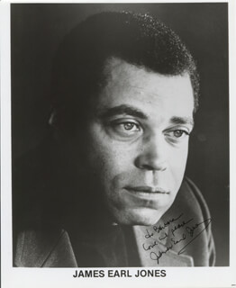 JAMES EARL JONES - INSCRIBED PRINTED PHOTOGRAPH SIGNED IN INK