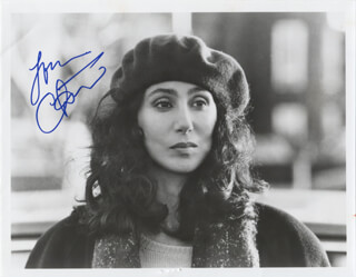 CHER - AUTOGRAPHED SIGNED PHOTOGRAPH