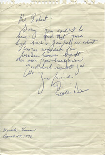 MILBURN STONE - AUTOGRAPH LETTER SIGNED 04/29/1976