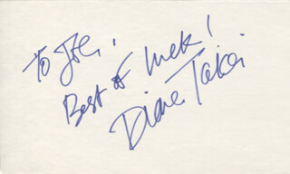 DIANE TAKEI - AUTOGRAPH NOTE SIGNED